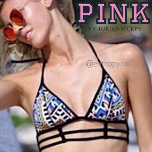 Victoria's Secret PINK caged geo print bikini